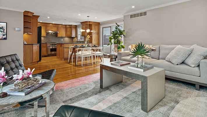 Open Space Living Room 32 Linden St Wellesley MA